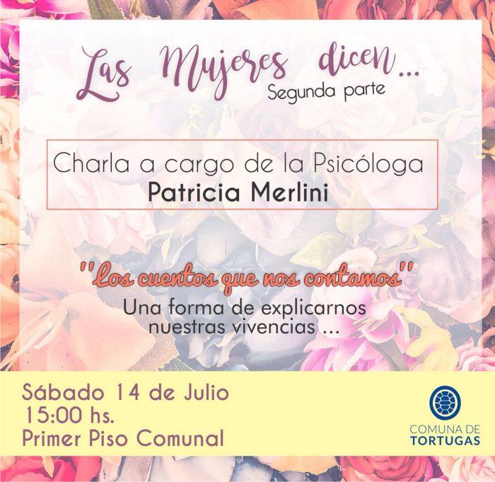 Charla a cargo de Patricia Merlini