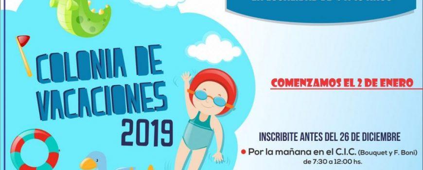 COLONIA DE VACACIONES 2019